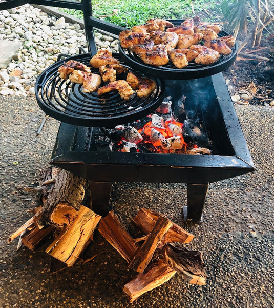 Backyard Fire Pit, Hot Plate & Grill comes with Pit Stabilizer