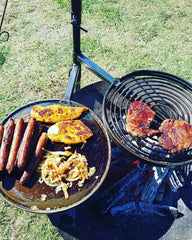 BBQ Swinging Hot Plate and Grill
