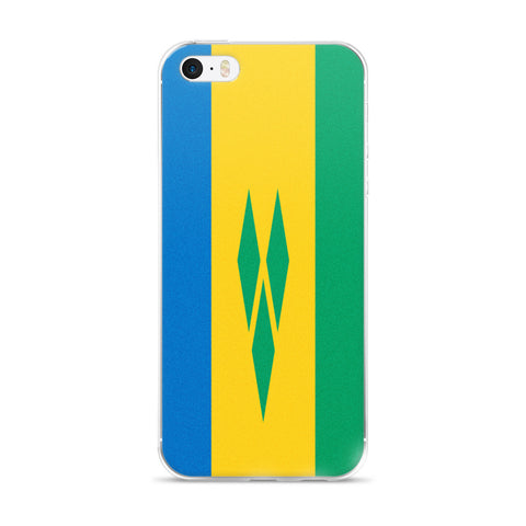 Saint Vincent and the Grenadines Flag Custom iPhone Case