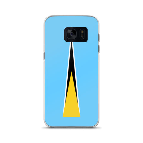 Saint Lucia Flag Custom Samsung Case