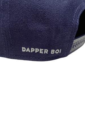 Dapper Boi Hats PRE-ORDER: Navy DB Embroidered Flat Snapback
