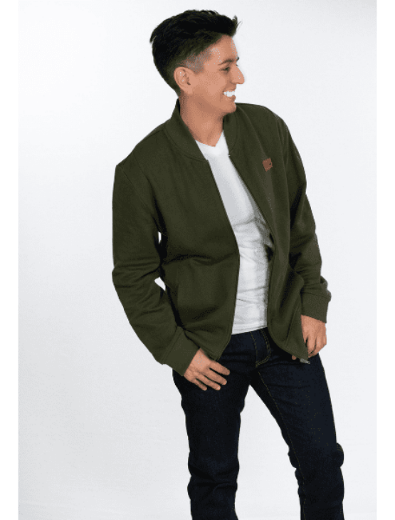 Dapper Boi Jackets Olive Green Pique French Terry Bomber Jacket