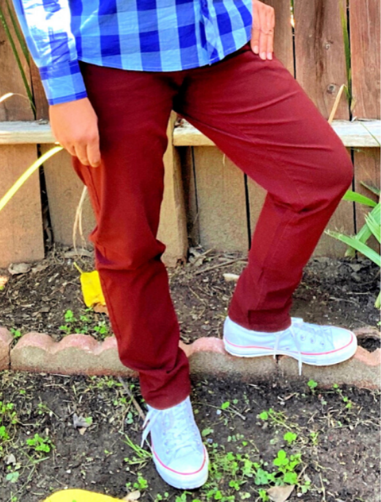 Load image into Gallery viewer, Dapper Boi Jeans SLIM Wine Stretch Chino Pants