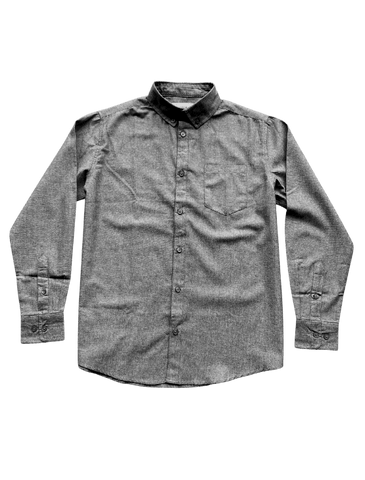 PRE-ORDER CAMPAIGN: Dark Grey Chambray Long Sleeve Button-Up