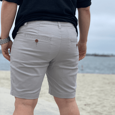 PRE-ORER: Light Grey Slim Stretch Chino Shorts