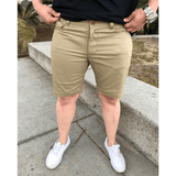 Dapper Boi Shorts 26 PRE-ORDER CAMPAIGN: Tan Slim Stretch Chino Shorts