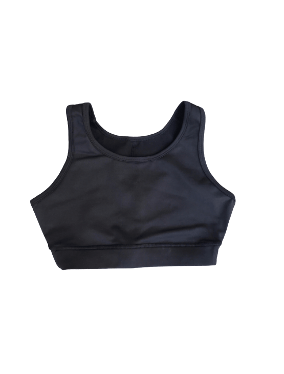 Dapper Boi Swim Black Swim-Sport Compression Bra