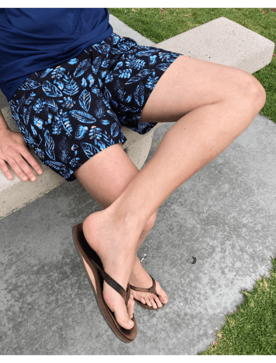 Load image into Gallery viewer, Dapper Boi Swim Blue Summer Leaves Swim Trunks