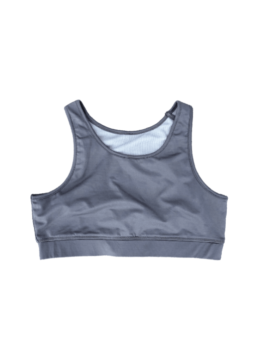Dapper Boi Swim Grey Swim-Sport Compression Bra