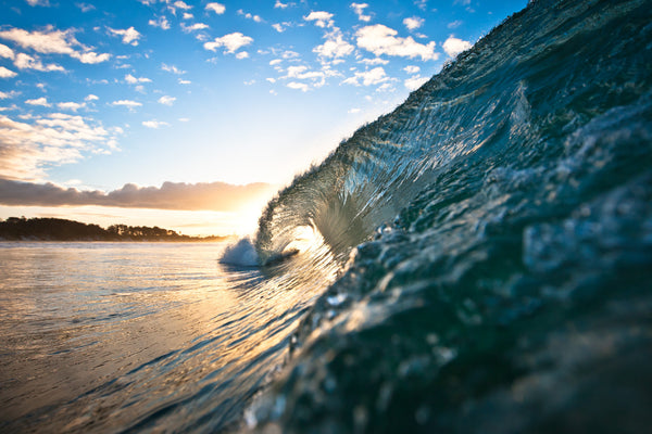 Belongil Beach Sunset Barrel by Alex Frings