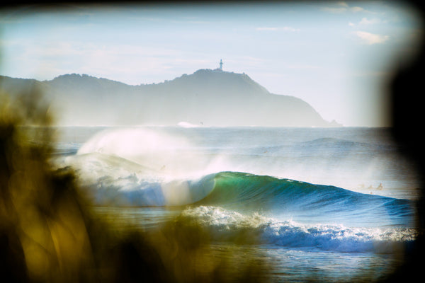 Broken Head Byron Bay big surf with Lighthouse by Alex Frings