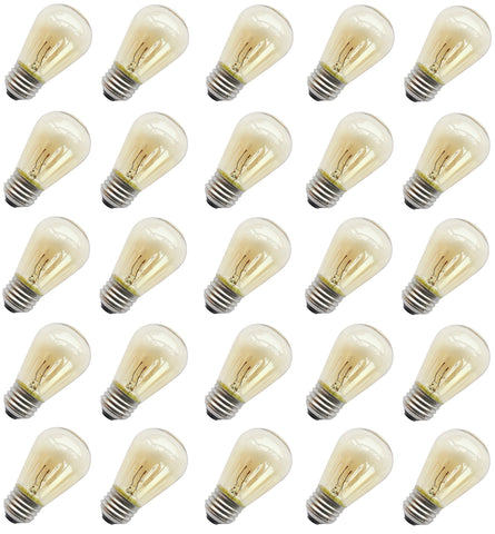 Rolay® 11 Watt S14 Incandescent Light Bulbs with E26 Base, Pack of 25