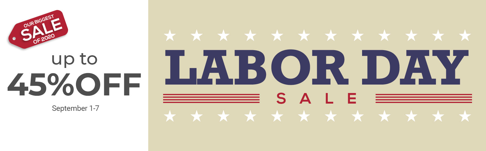 Labor Day Sale: Up to 45% Off on various products!