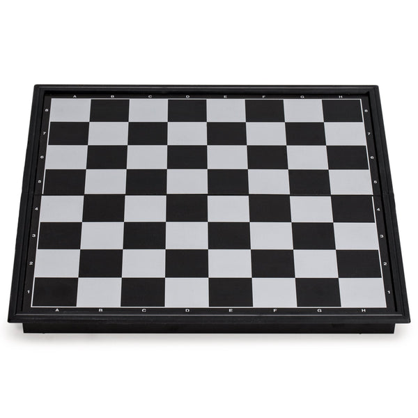 3-in-1 Travel Magnetic Chess, Checkers, and Backgammon Set - 9.8 Inches