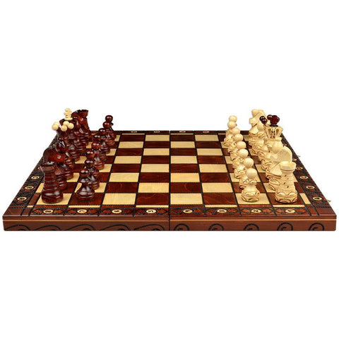 "Ambassador European International Chess Set - 21.7""-Sunrise Handicrafts-Yellow Mountain Imports"
