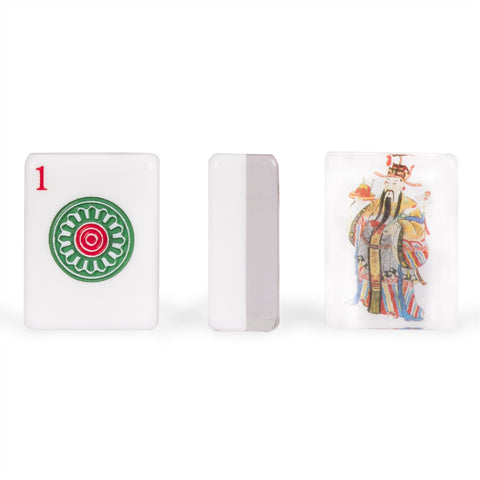 "American Mahjong Set of 166 Tiles - ""God of Fortune"""