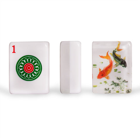 "American Mahjong Set of 166 Tiles - ""Koi"""