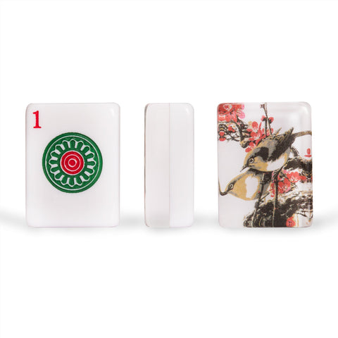"American Mahjong Set of 166 Tiles - ""Little Bird"""