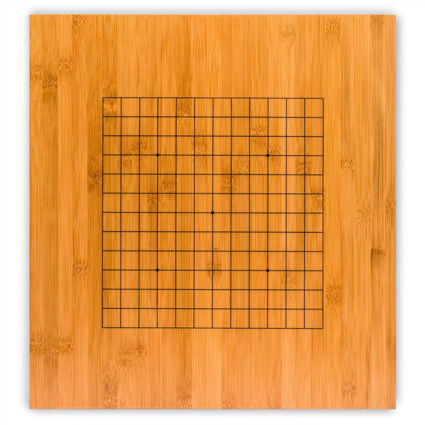 Bamboo 2-Inch Reversible 19x19/13x13 Go Game Set Board with Double Convex Yunzi Stones and Bamboo Bowls