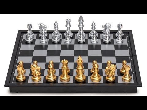 Travel Magnetic Chess Set (9.7 Inches) - Folding, Portable, and Educational Board Game