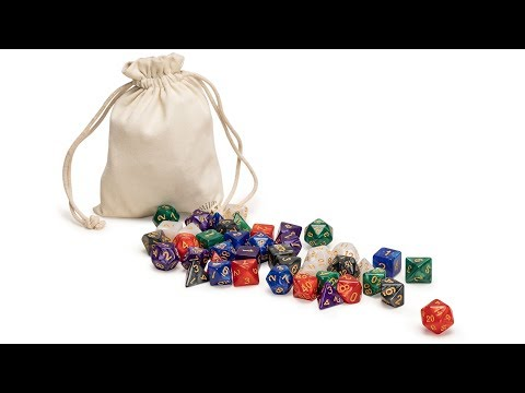 42 Polyhedral Dice, 6 Colors with Complete Set of D4, D6, D8, D10, D12, D20, and D% for Role Playing Games (RPG), DND, MTG, and Other Dice Games