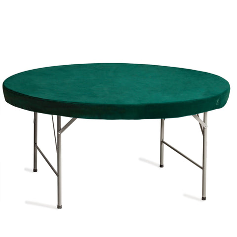 Professional Grade Green Round Table Cover for Card Games, Mahjong, Board Games, Domino Games, and More - 60 Inches