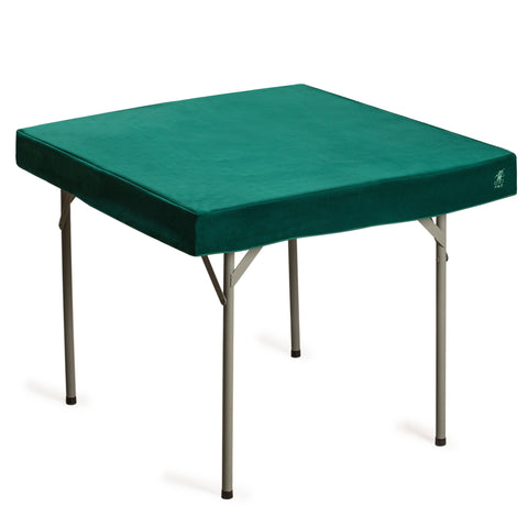 Professional Grade Green Square Table Cover for Card Games, Mahjong, Board Games, Domino Games, and More - 36 x 36 Inches