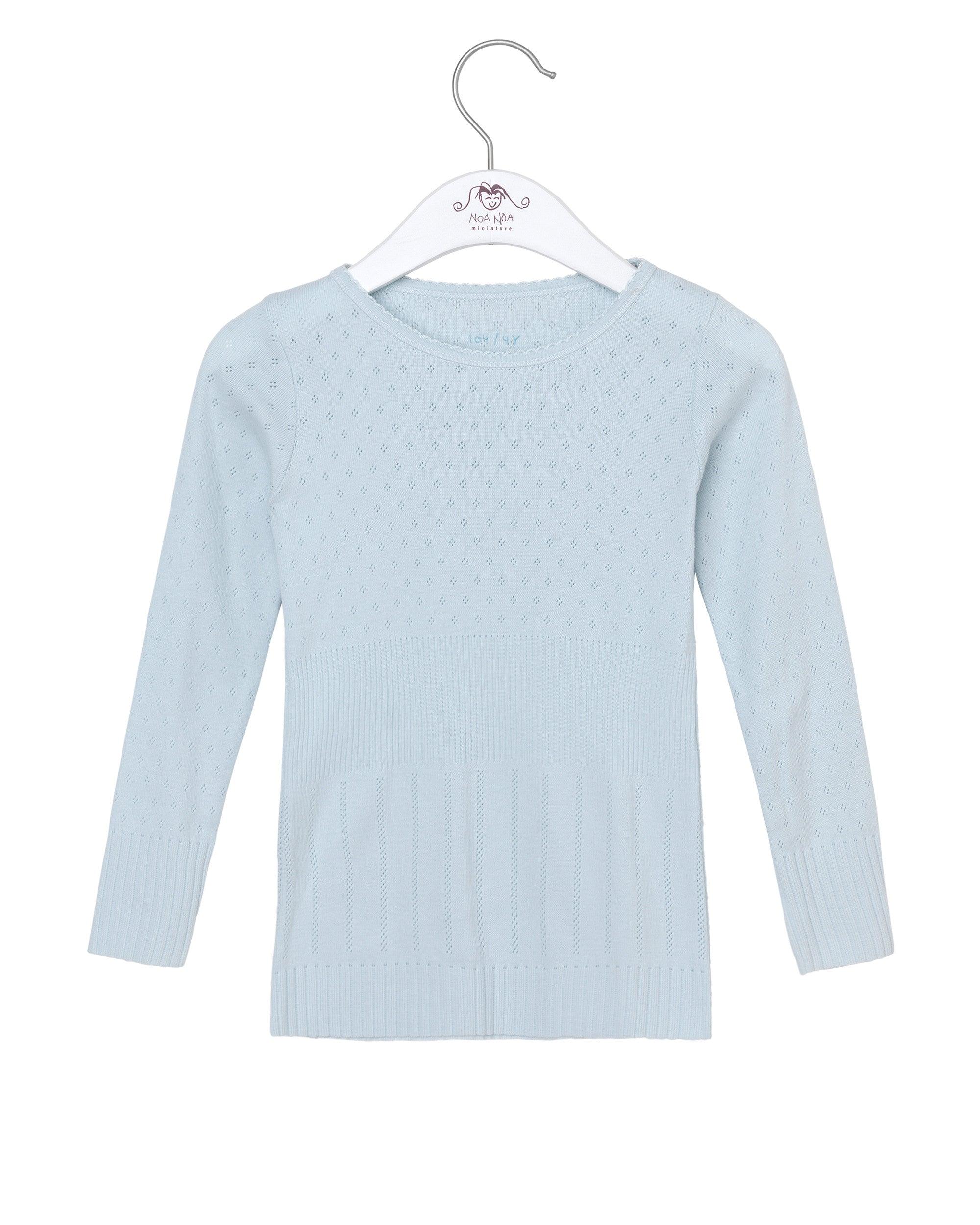 c21ca8faa17e5 Long Sleeved Blouse with Pointelle Pattern