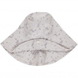 Hat Bird Print, Pale Rose, Organic