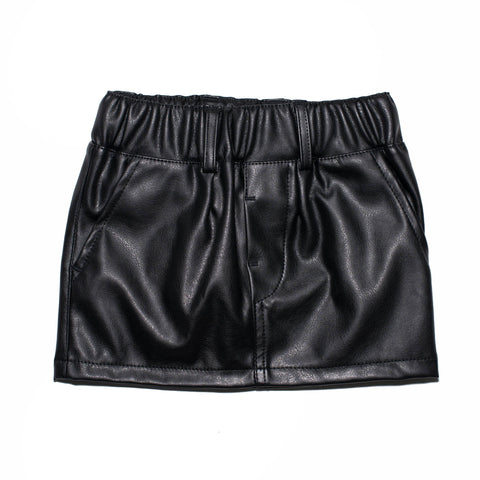 Faux Leather Skirt / No. 200
