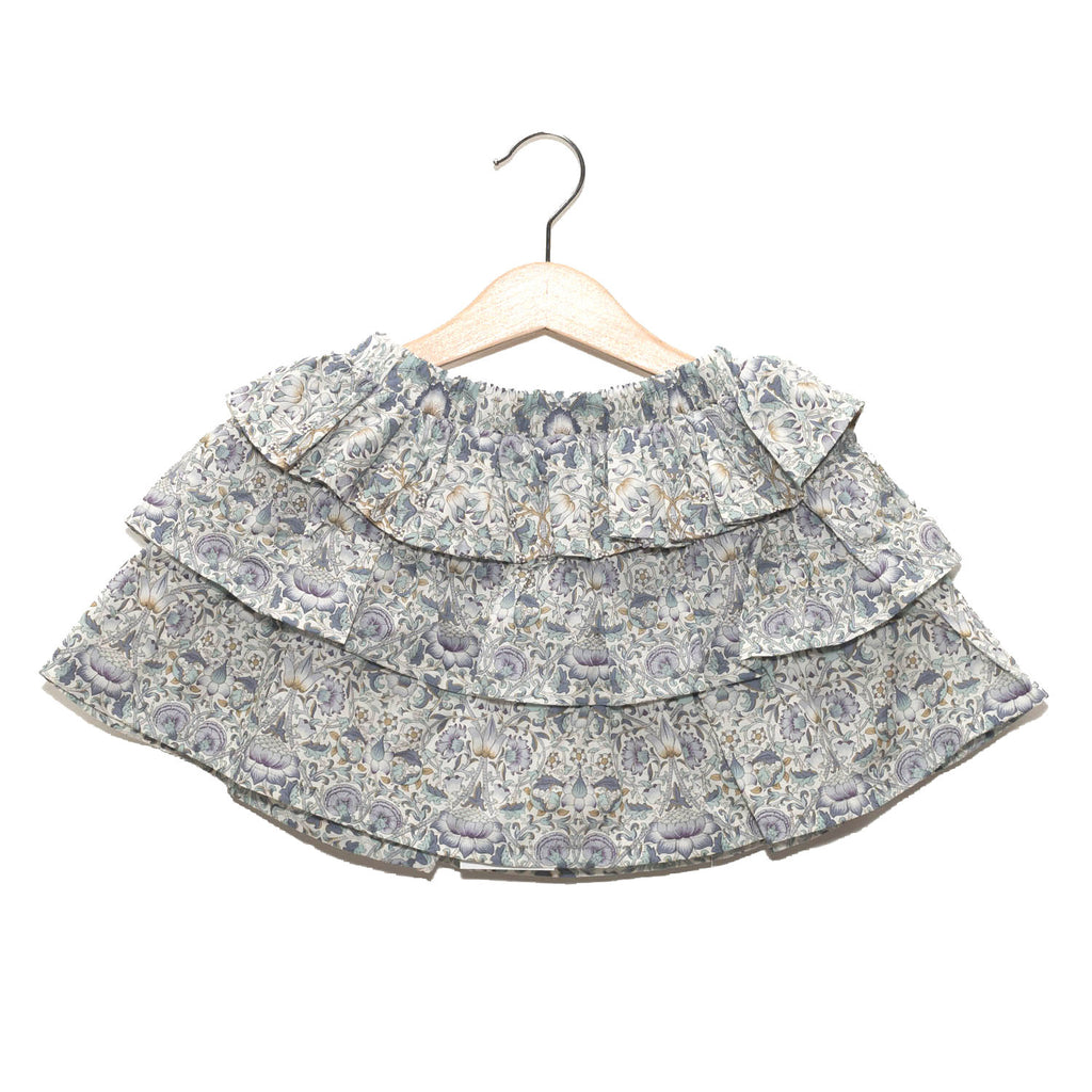 Skirt with Ruffles - Liberty Lavender Flower / No. 203