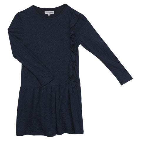Dark Blue Dress with Long Sleeves / No. 104