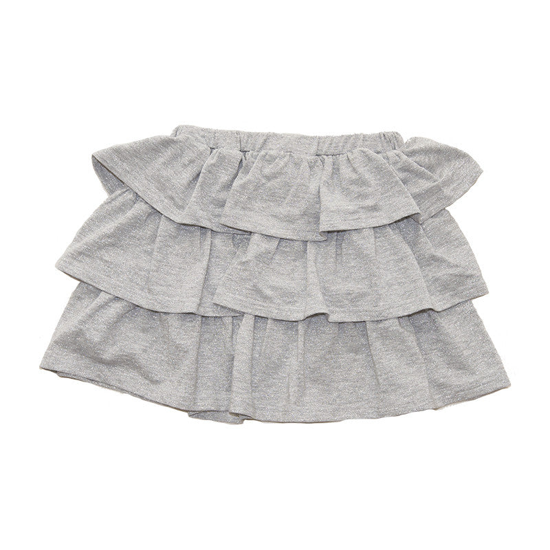 Silver Skirt with Ruffles / No. 67