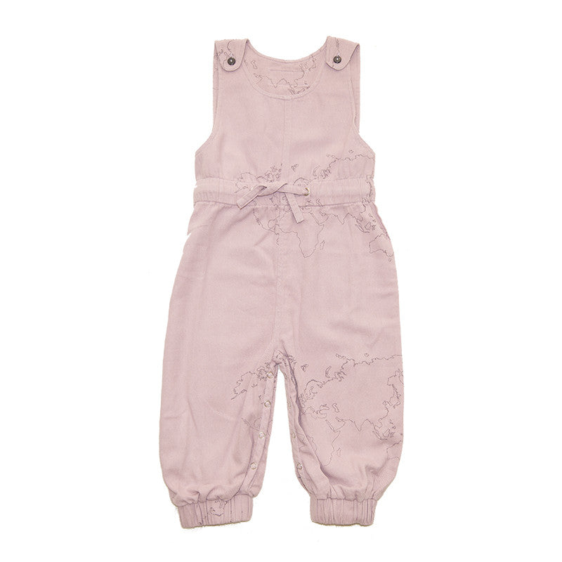 Print Jumpsuit, Old Rose, Soft Twill
