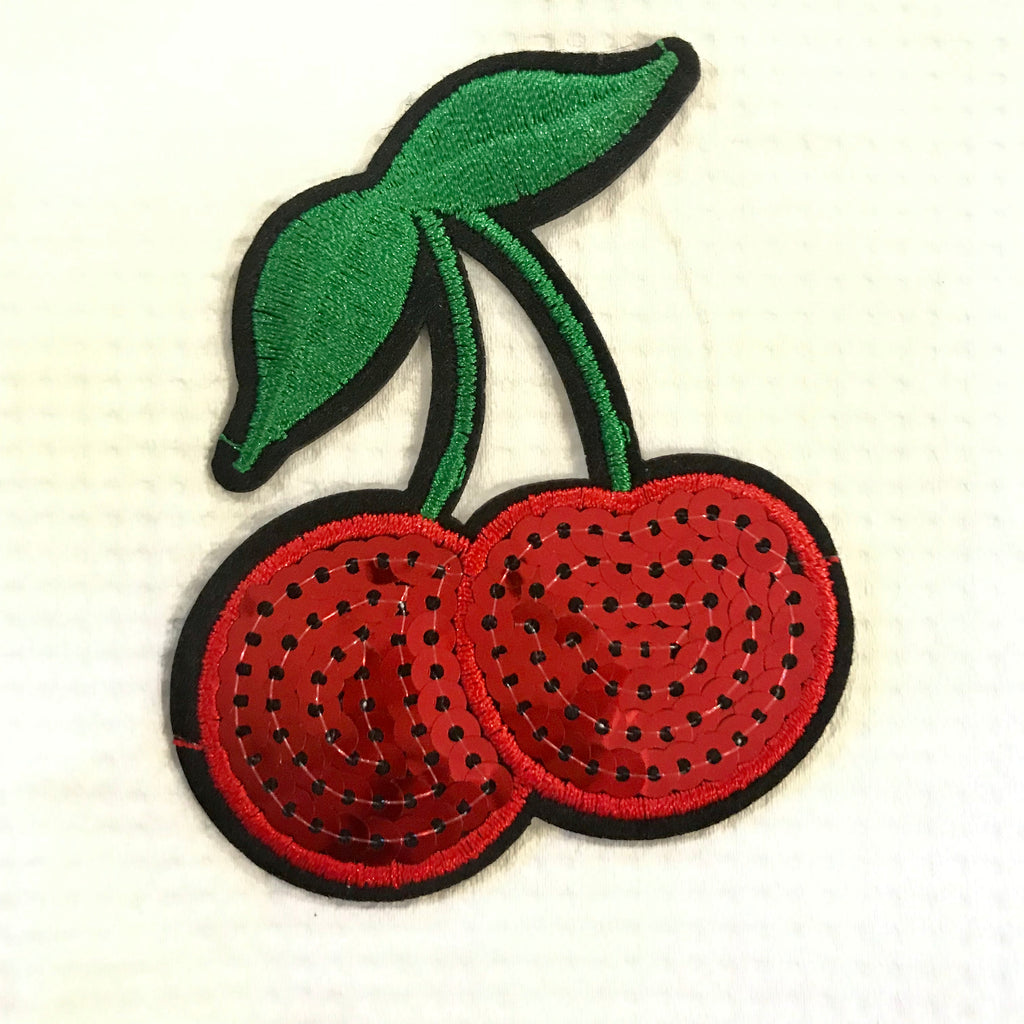 Iron-on CHERRY embroidery