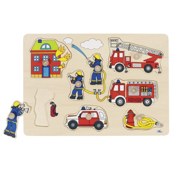 Peg Puzzle - Fire Brigade Burning House