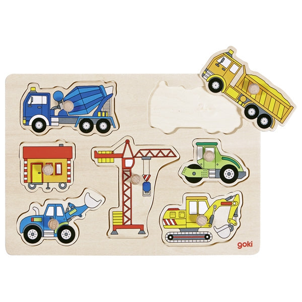 Peg Puzzle - Construction Vehicles