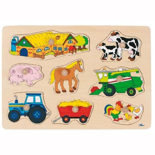 Peg Puzzle - Baby Farm Animals