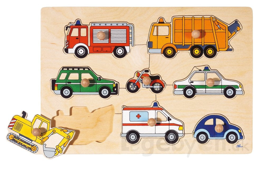 Peg Puzzle - Working Vehicles