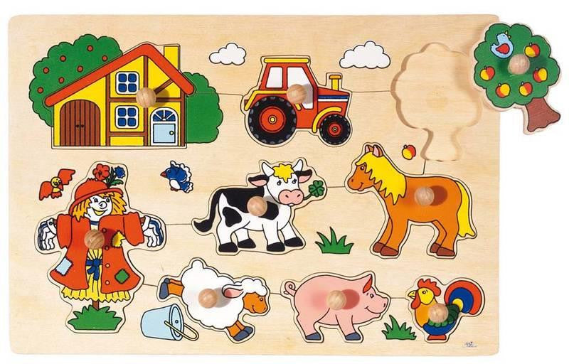 Peg Puzzle - Farm Animals