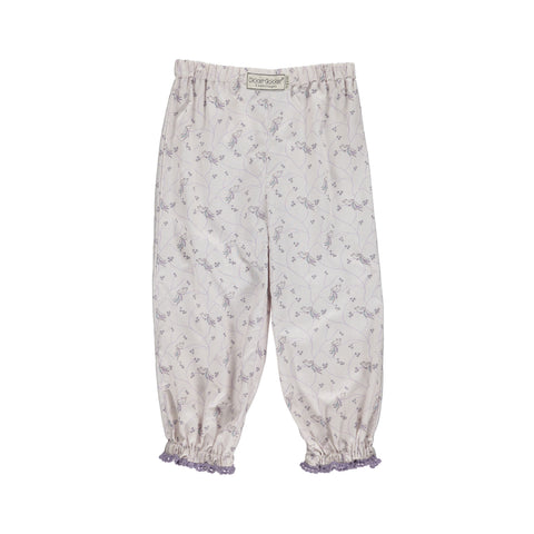 Pants Bird Print, Pale Rose, Organic