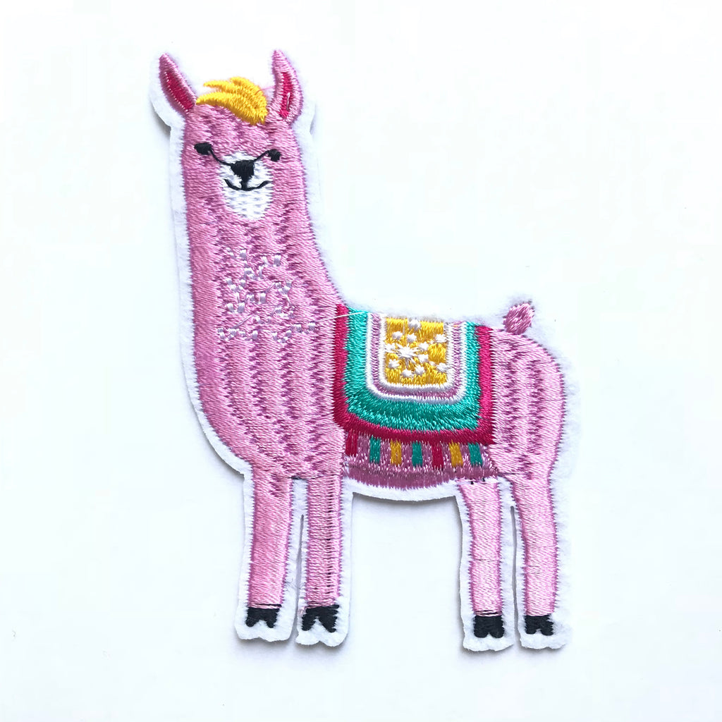 Iron-on LAMA embroidery