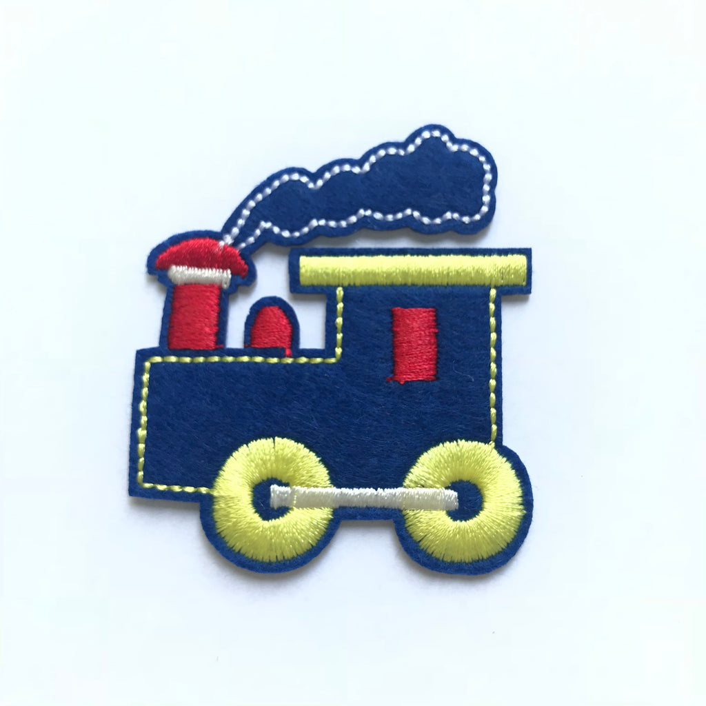 Iron-on TRAIN patch embroidery