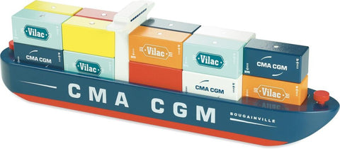 Container Ship - magnet stacking