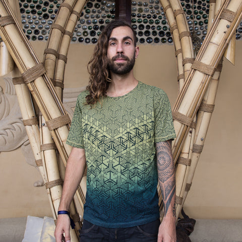 ZIZ Geomorph Organic Cotton & Bamboo Blend  T Shirt / Jade Green