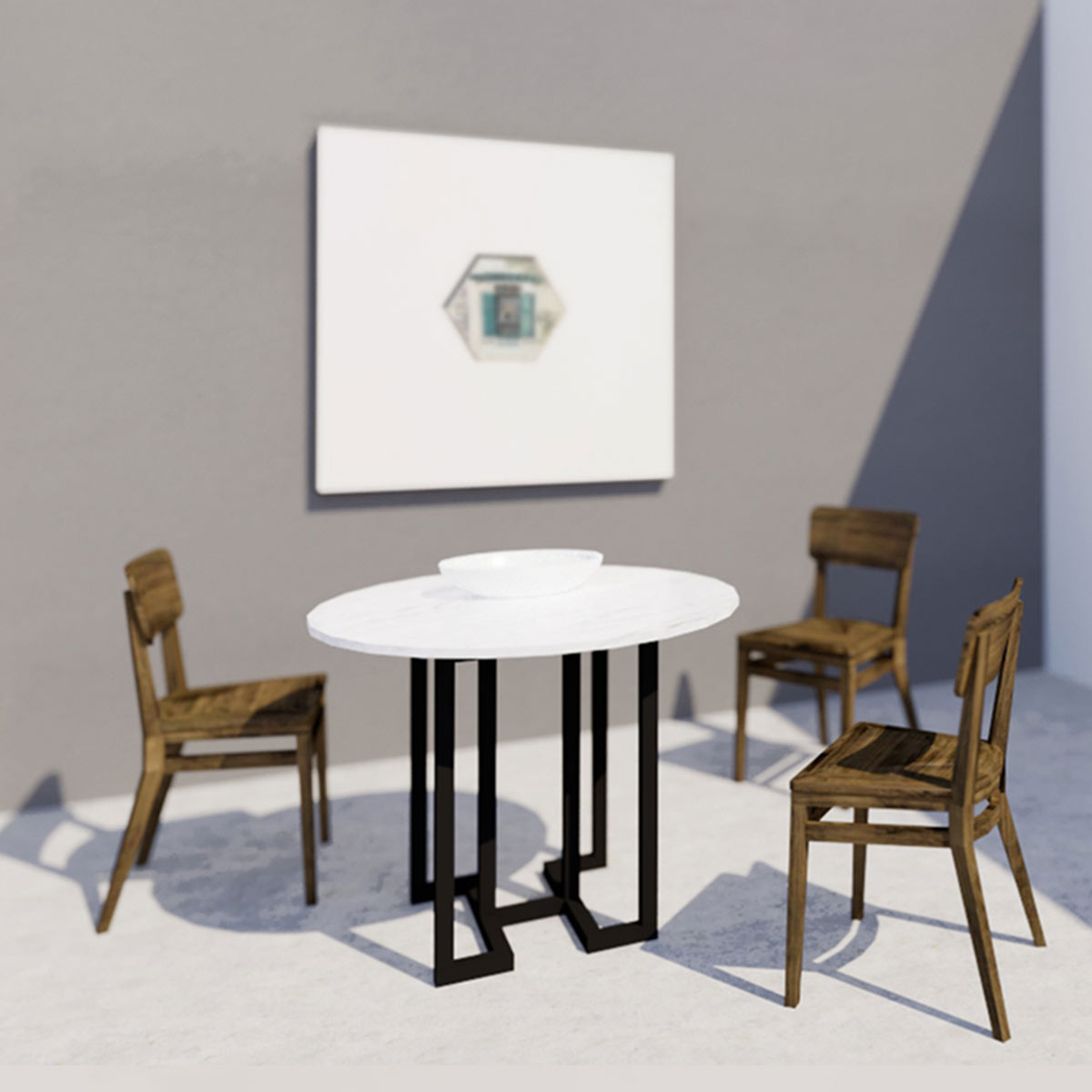 Yuan Loft Dining Table Round Scene Shang