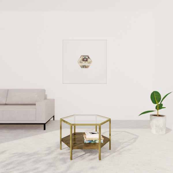 JING Coffee Table (Hexagon) With Glass