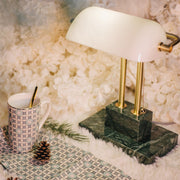 THE BANKER Desk Lamp - Jade