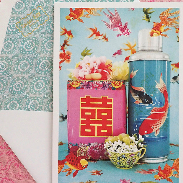 Singapore Luxury Greetings Cards by Louise Hill Design