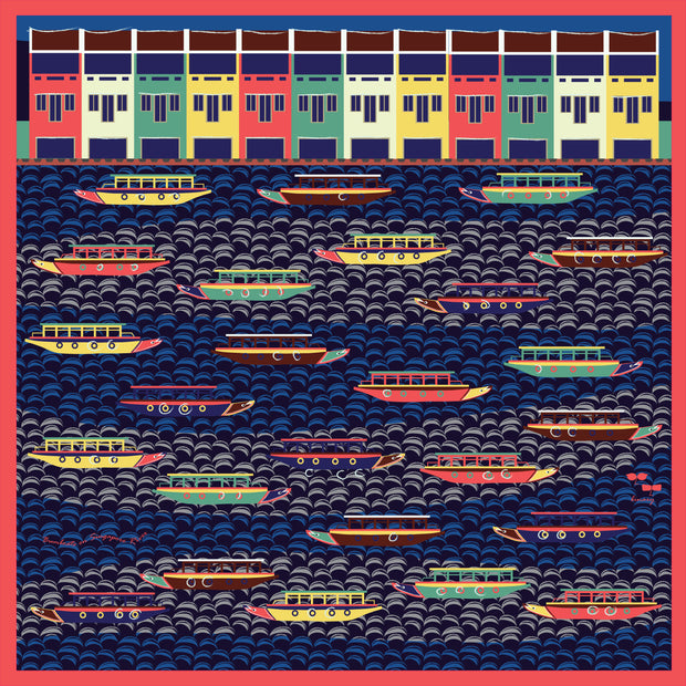 Binary Style - Bumboats on Singapore River - SCENE SHANG